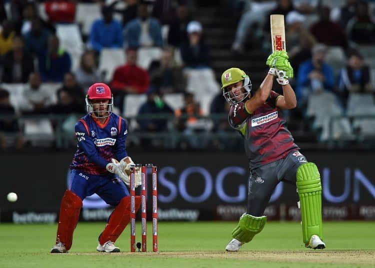 AB de Villiers scored his third 50+ score of the Mzansi Super League 2019 season