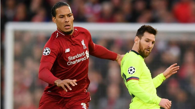 Virgil van Dijk and Lionel Messi - cropped