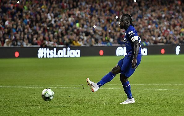 Victor Moses in action for Chelsea
