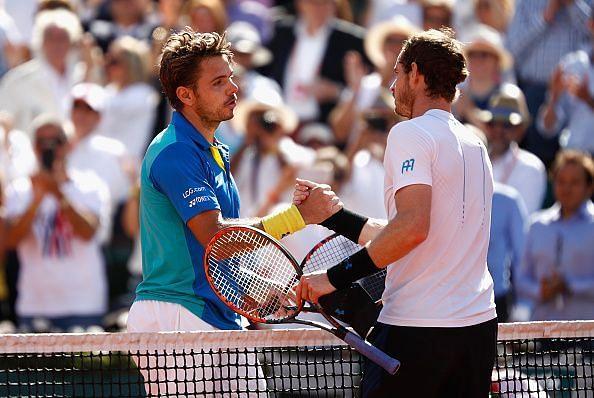 Murray and Wawrinka have both won 3 Grand Slam titles
