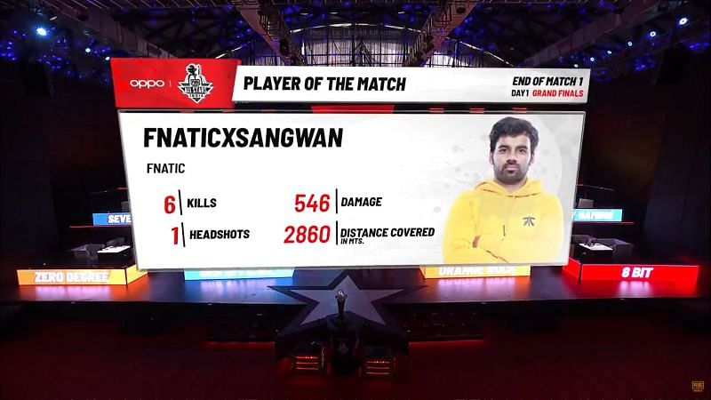 Game 1 MVP for Grand Finals