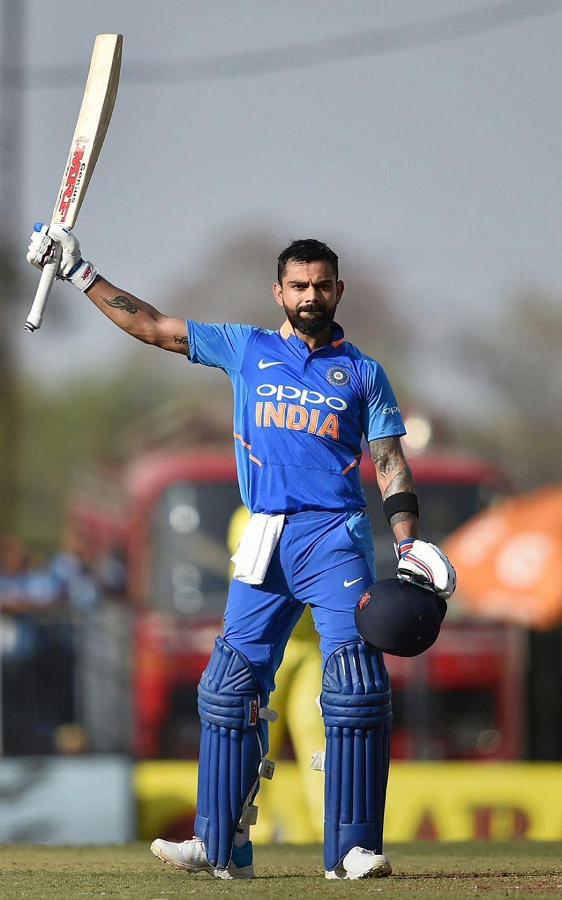कप्तान कोहली अभी तक 239 एकदिवसीय मैचों में 11609 रन बना चुके हैं।