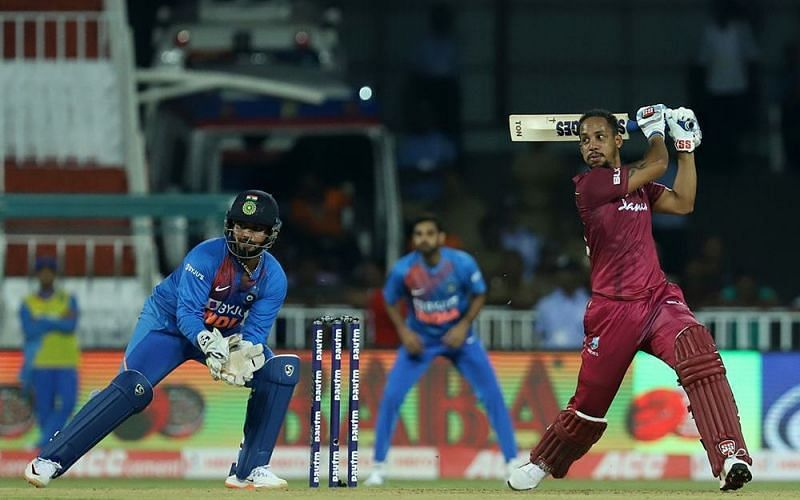 Lendl Simmons anchored the Windies
