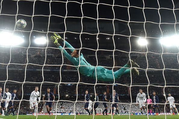 Keylor Navas was one of the standout players for PSG in the group stage