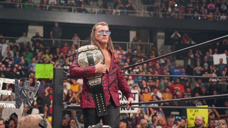 Chris Jericho with the AEW World Championship