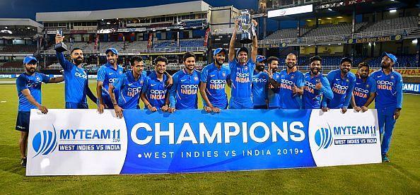 भारत ने अगस्त 2019 में वेस्टइंडीज को 2-0 से हराया था