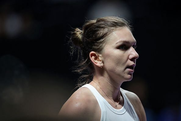 Simona Halep is playing in just her second match of the year.