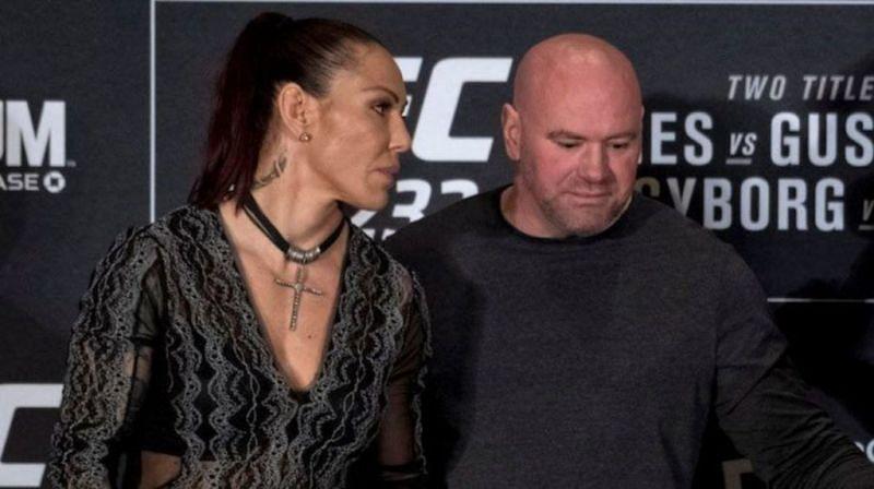 Cris Cyborg and Dana White