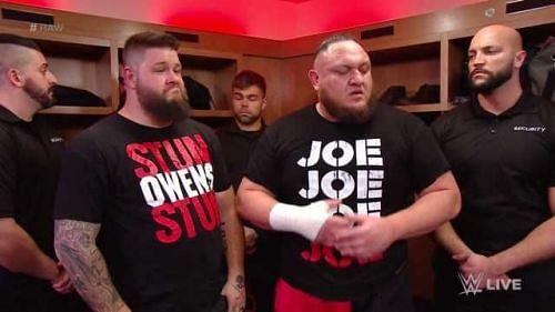 Kevin Owens and Samoa Joe on RAW