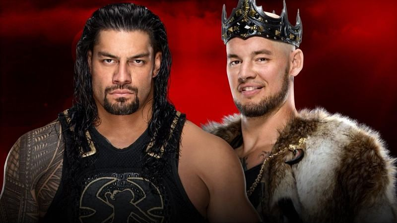 Round 4 between Reigns and Corbin