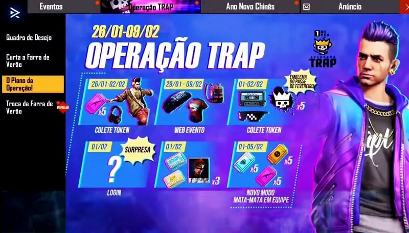 T.R.A.P. Event coming to Free Fire
