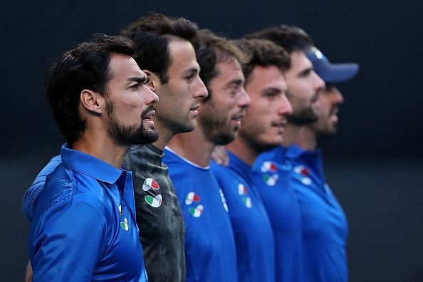 The Italian side, led by Fabio Fognini, will be desperate for a win in their second tie.