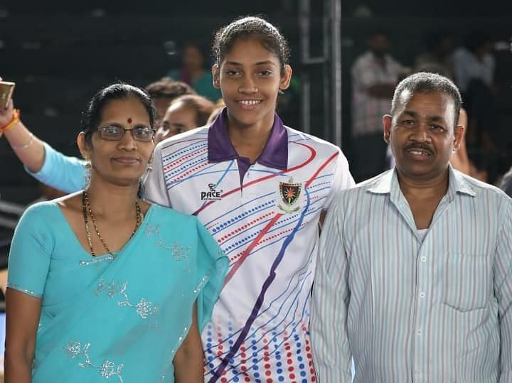 Sonali Shingate praised her parents for backing her to become a kabaddi player.