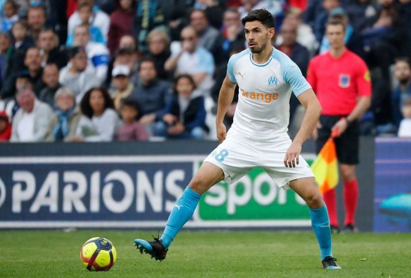 Sanson playing for Marseille in Ligue 1