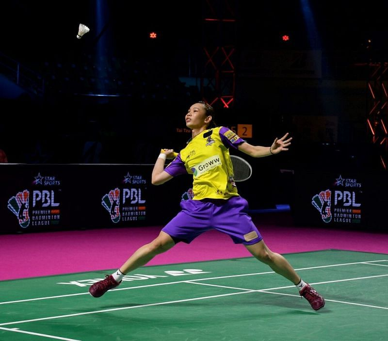 Tai Tzu Ying in action for the Bengaluru Raptors