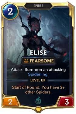 The deck revolves around Elise and her ability to make spiders