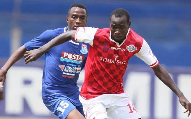 Benson Omala in action for Western Stima in the Kenyan Premier League