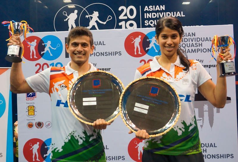 Saurav Ghosal and Joshna Chinappa did India proud by winning the Asian championship titles