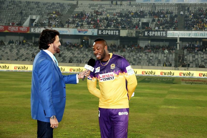 Andre Russell slammed 7 sixes in his unbeaten knock of 54 runs