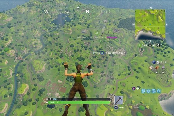Players remain stuck after leaving the battle bus.
