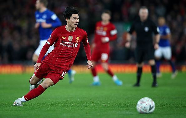 Takumi Minamino is expected to be named in the starting XI for Liverpool