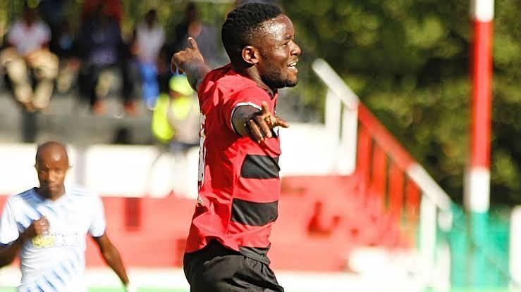 Makwatta celebrates after scoring