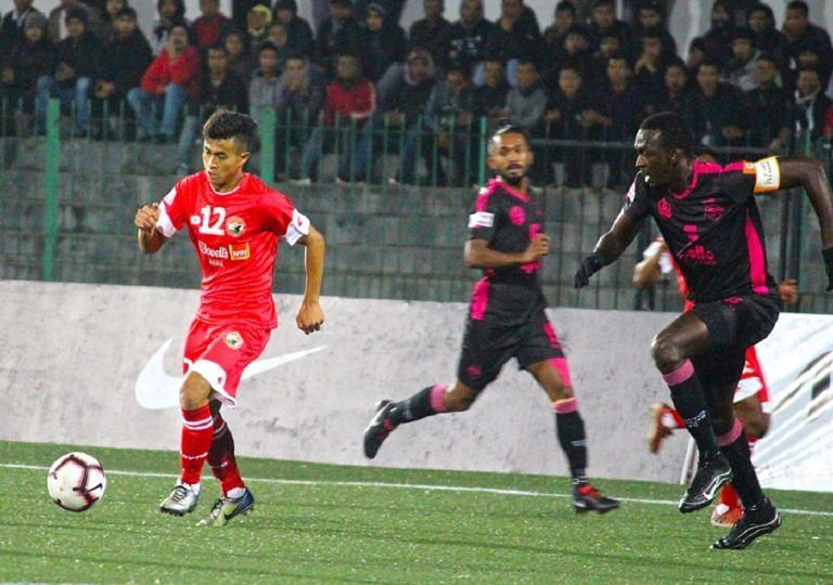 Samuel Kynshi in action in I-League for Shillong Lajong in the last season