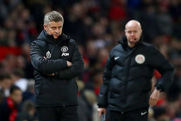 Ole Gunnar Solskjaer watched on as his Manchester United side were outclassed at home