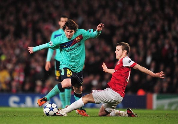 A young Jack Wilshere helped Arsenal to a famous victory over Barcelona in 2011