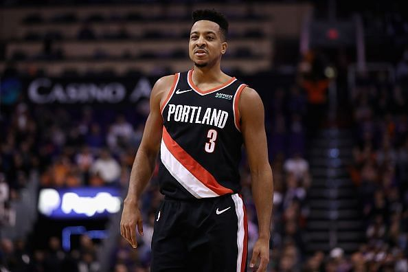 McCollum is averaging 22.2 points, 4.3 rebounds and 3.7 assists in 35 games for the Blazers this season