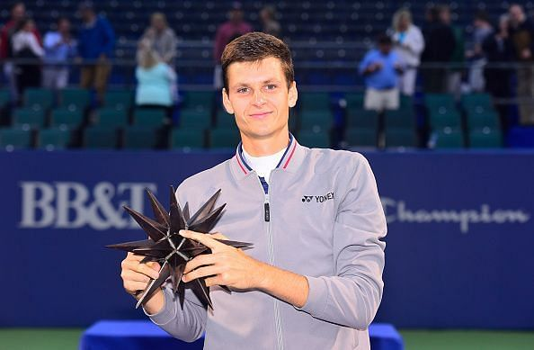 Hubert Hurkacz beat Paire in the 2019 Winston Salem final to win his first ATP title