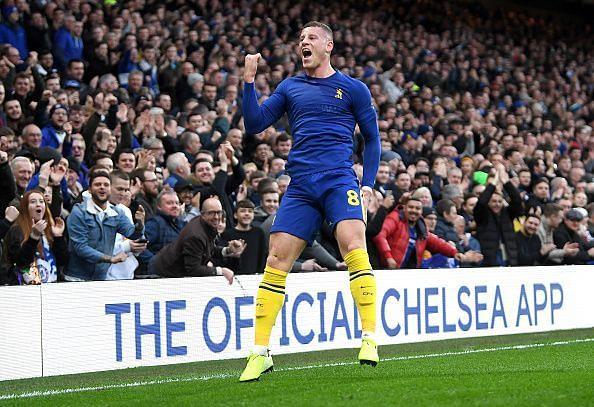 Ross Barkley scored a rare goal for Chelsea today