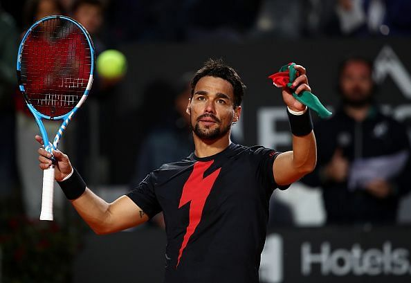 Fabio Fognini will look to rebound from his loss against Daniil Medvedev.