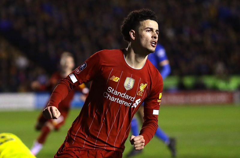 Match-winner against Everton, Curtis Jones opened the scoring for Liverpool at Shrewsbury