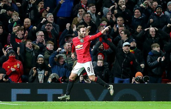 Mata scored the winning goal