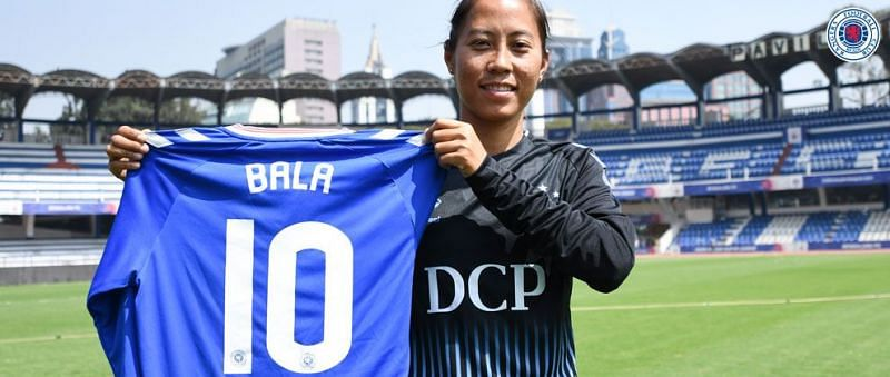 Bala Devi will don the #10 jersey for Rangers WFC (Image Credits: Rangers Official Website)