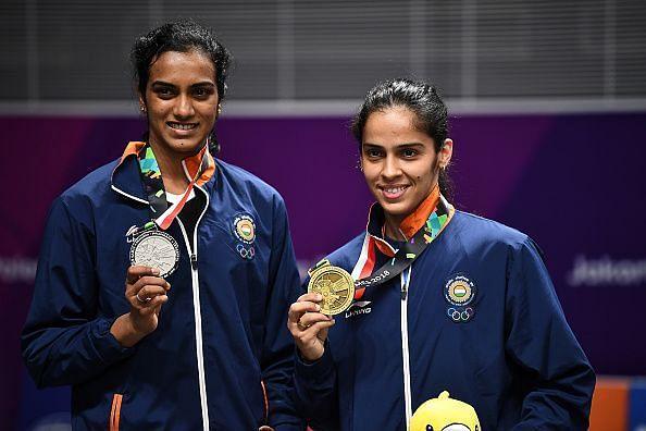 PV Sindhu and Saina Nehwal in a file photo
