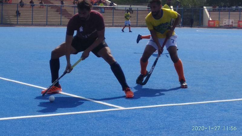 Punjab & Sind Bank vs Hockey Haryana (Image Courtesy: Hockey India)