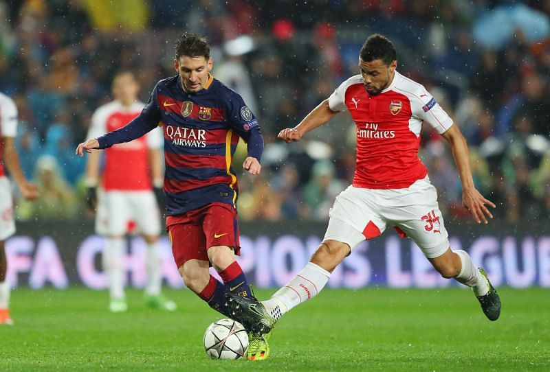 Messi has a stellar record against Arsenal, but his best performance came in the 2009-10 quarter-final