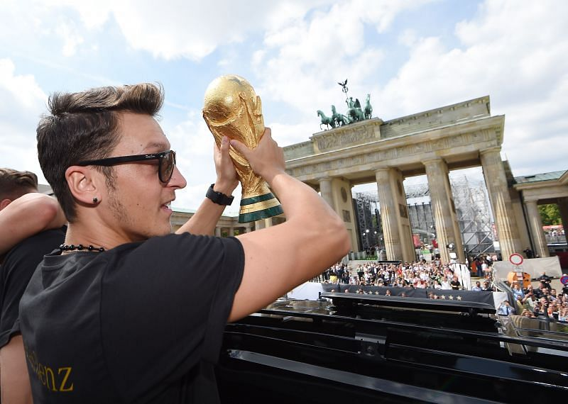 Özil lifted the World Cup with Germany in 2014