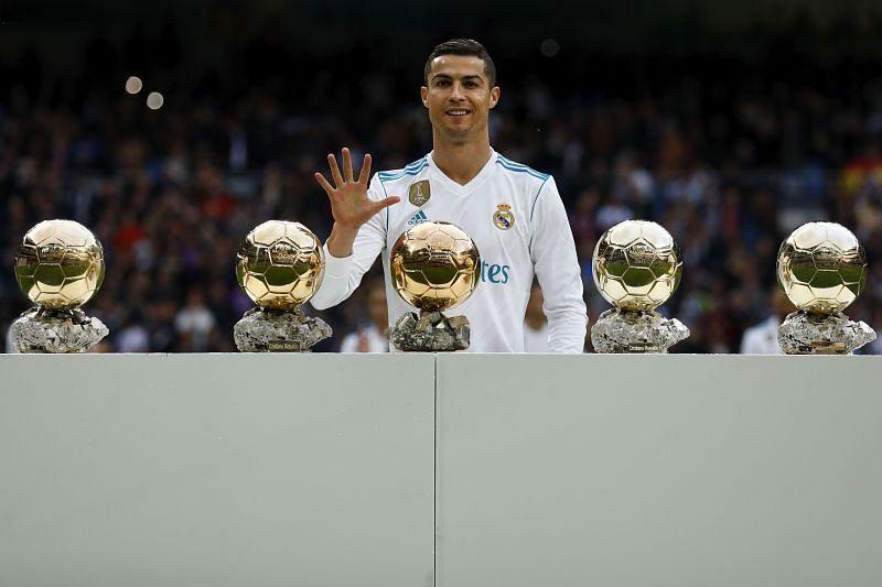 Ronaldo has won five Ballon d