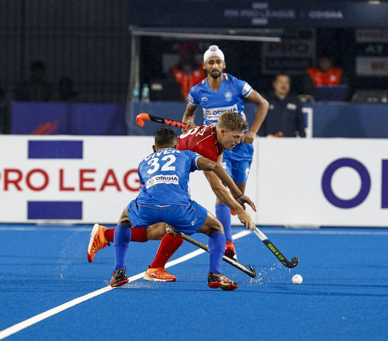 India held their own against World Champions Belgium