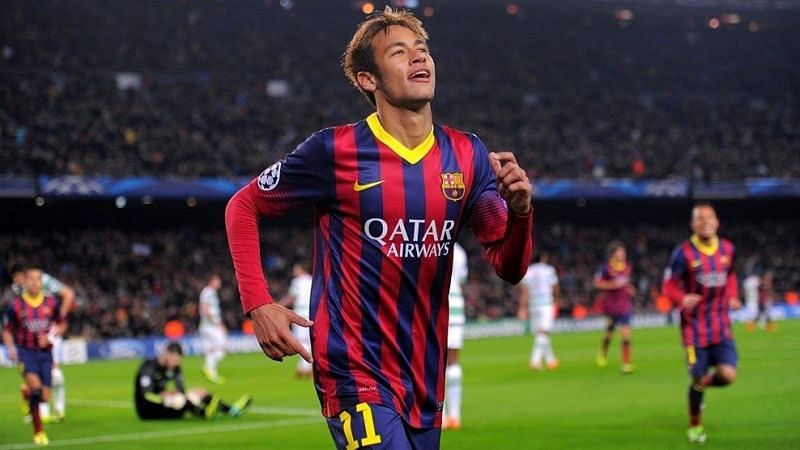 Neymar scored a hat-trick on the day he first got on the Champions League scoresheet!