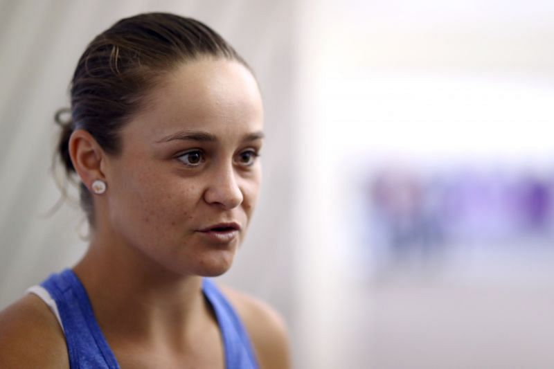 Ashleigh Barty at the Qatar Open 2020 pre-tournament press conference