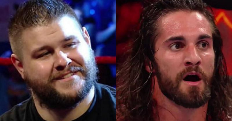 Kevin Owens and Seth Rollins.