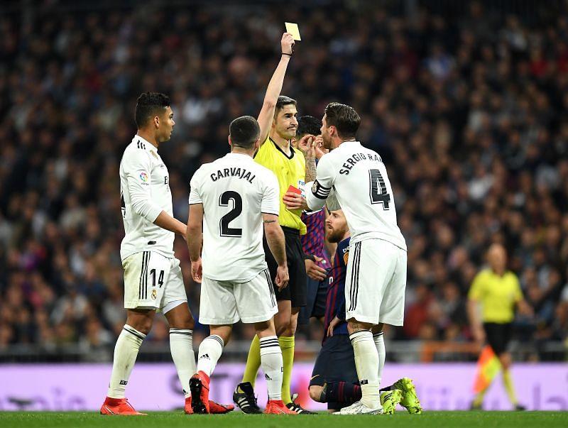 Real Madrid captain Sergio Ramos is no stranger to El Clásico controversy