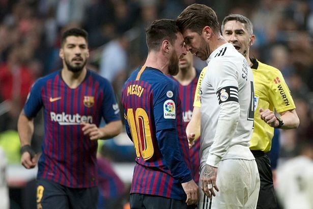 Hostilities between Messi and Ramos amped up a notch last year
