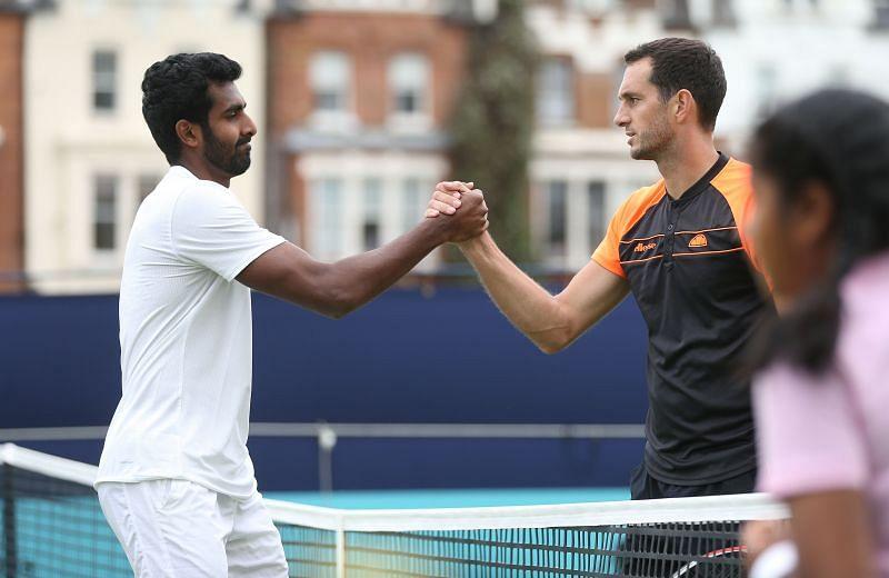 Prajnesh Gunneswaran (L) could not make it to the quarterfinals of the Bengaluru Tennis Open 2020