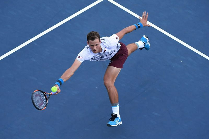 Pospisil is very comfortable at the net and loves to finish points quickly.
