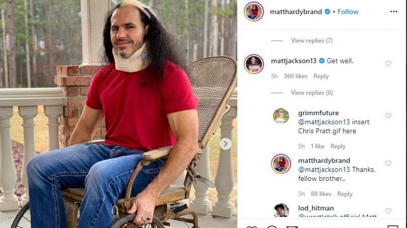 Interesting exchange (Pic Source: Matt Hardy Instagram)